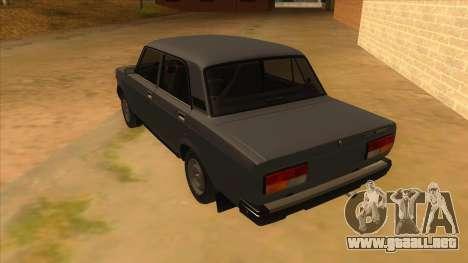 VAZ 2107 RUSIA para GTA San Andreas vista posterior izquierda