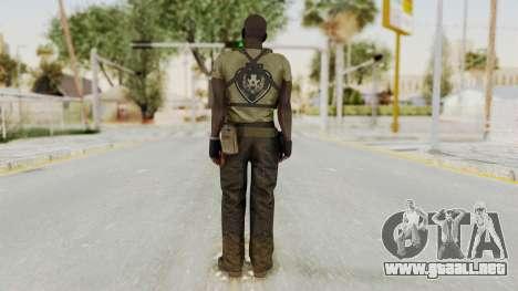 MGSV Phantom Pain RC Soldier T-shirt v2 para GTA San Andreas tercera pantalla