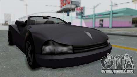 GTA 3 Cheetah Topless para GTA San Andreas