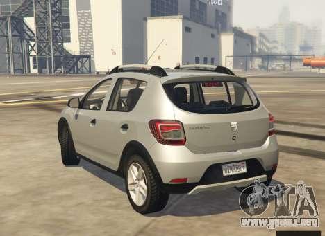 GTA 5 Dacia Sandero Stepway 2014 vista lateral izquierda