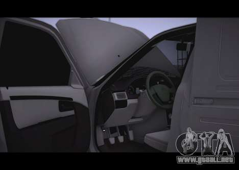 Lada Priora Stok Budka para GTA San Andreas vista hacia atrás