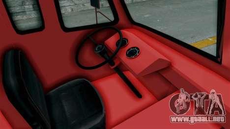 Ford P600 1964 Coca-Cola Delivery Truck para visión interna GTA San Andreas