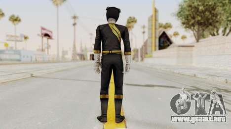 Power Rangers Wild Force - Black para GTA San Andreas tercera pantalla