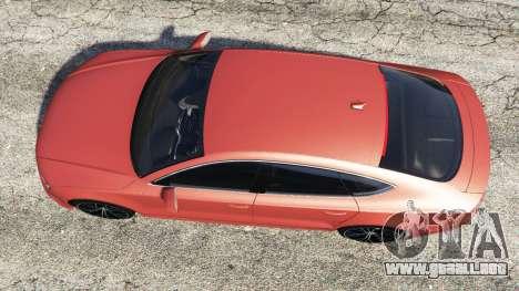 GTA 5 Audi A7 2015 vista trasera
