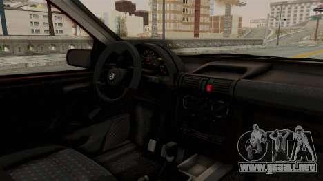 Chevrolet Corsa Hatchback Tuning v1 para visión interna GTA San Andreas
