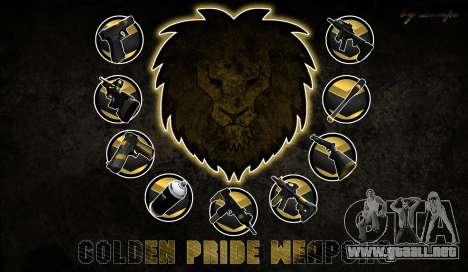 Golden weapon pack para GTA San Andreas