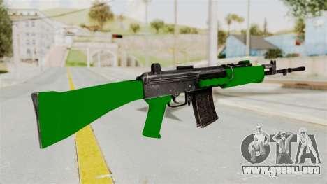IOFB INSAS Dark Green para GTA San Andreas segunda pantalla
