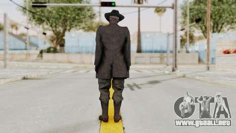 MGSV Phantom Pain SKULLFACE para GTA San Andreas tercera pantalla