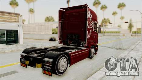 Scania R730 para GTA San Andreas left