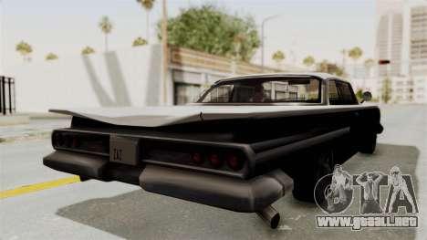 Voodoo Limited Edition para GTA San Andreas vista posterior izquierda