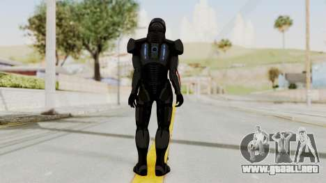 Mass Effect 2 Shepard Default N7 Armor Helmet para GTA San Andreas tercera pantalla