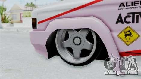 Toyota Kijang Grand Nico.Y Itasha para GTA San Andreas vista hacia atrás