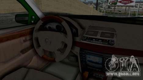 Mercedes-Benz E500 Police para visión interna GTA San Andreas