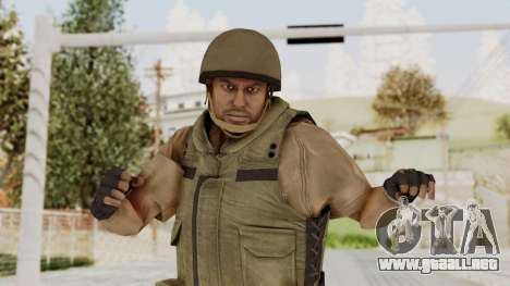 MGSV Phantom Pain CFA Vest v1 para GTA San Andreas