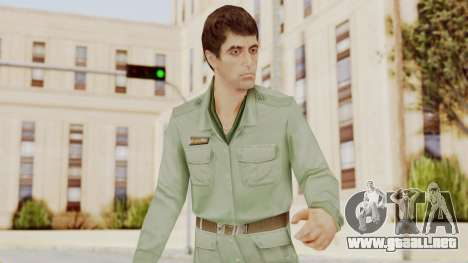 Scarface Tony Montana Army Costume para GTA San Andreas
