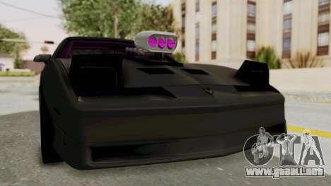 Pontiac Firebird 1982 Trans Am Drag para la visión correcta GTA San Andreas
