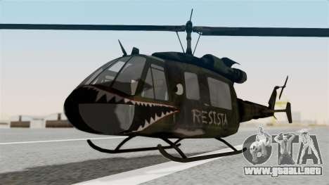 Castro V Attack Copter from Mercenaries 2 para la visión correcta GTA San Andreas