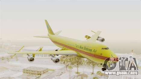 Boeing 747-200 Trans San Andreas Air para GTA San Andreas vista posterior izquierda