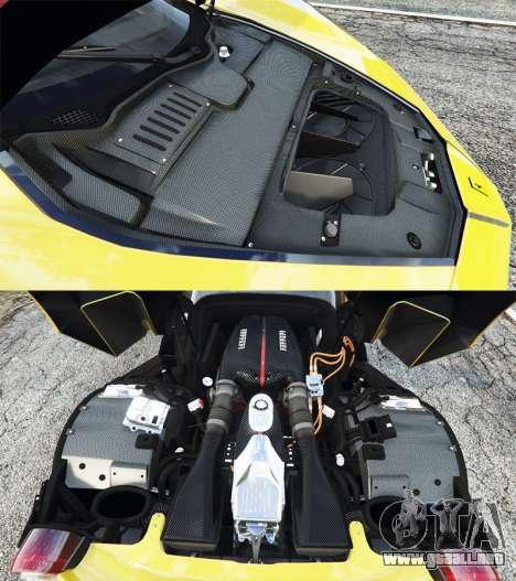 GTA 5 Ferrari LaFerrari vista lateral derecha