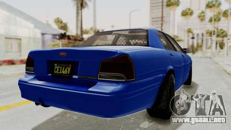 GTA 5 Vapid Stanier II Police Cruiser 2 para la visión correcta GTA San Andreas