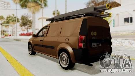 Dacia Logan MCV Van para GTA San Andreas left