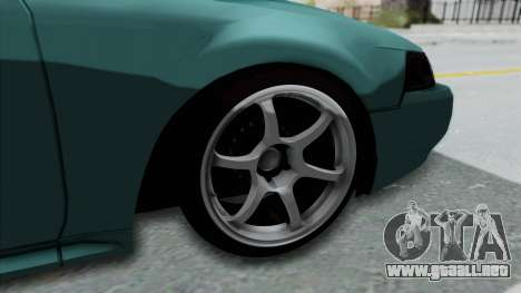 Ford Mustang 1999 Drift Falken para GTA San Andreas vista hacia atrás