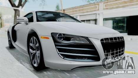 Audi R8 V10 2010 para la visión correcta GTA San Andreas