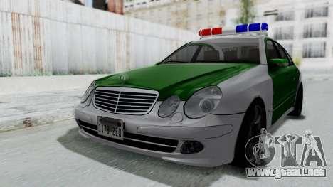 Mercedes-Benz E500 Police para la visión correcta GTA San Andreas
