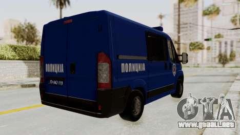 Fiat Ducato Police para GTA San Andreas left