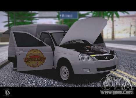 Lada Priora Stok Budka para la visión correcta GTA San Andreas