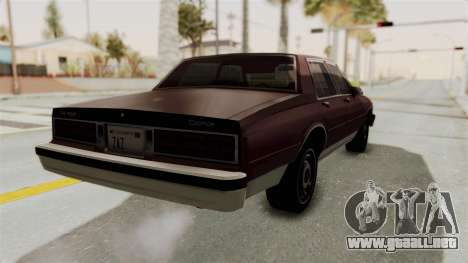 Chevrolet Caprice 1987 v1.0 para GTA San Andreas vista posterior izquierda