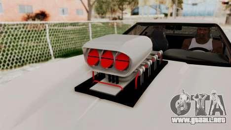 Chevrolet Corvette C4 Monster Truck para GTA San Andreas vista hacia atrás