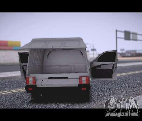Lada Priora Stok Budka para GTA San Andreas vista posterior izquierda