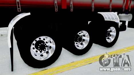 Kenworth T800 Carreta de Arena para GTA San Andreas vista posterior izquierda