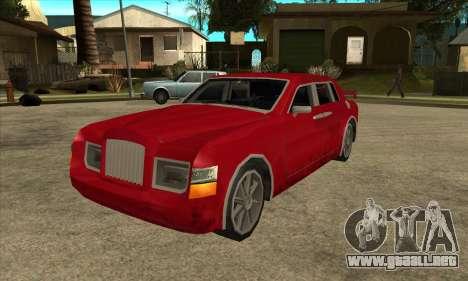 Rolls Royce Phantom para GTA San Andreas vista posterior izquierda