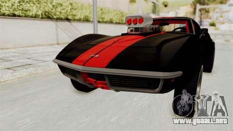 Chevrolet Corvette Stingray C3 1968 Drag para GTA San Andreas