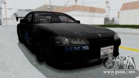 Nissan Silvia S15 RDT para la visión correcta GTA San Andreas