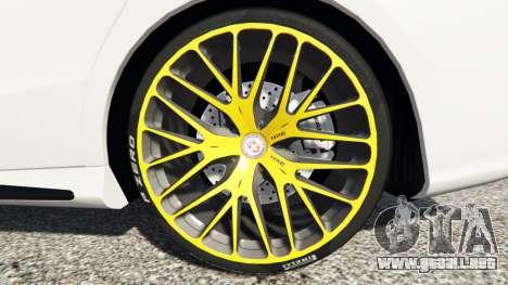 GTA 5 Mercedes-Benz CLA 45 AMG [HSR Wheels] delantero derecho vista lateral