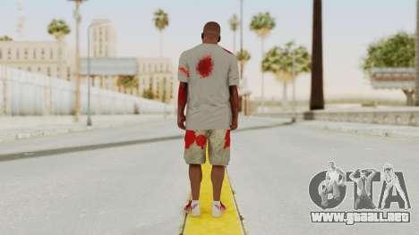 GTA 5 Franklin Zombie Skin para GTA San Andreas tercera pantalla