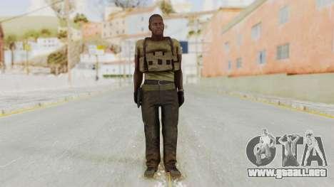 MGSV Phantom Pain RC Soldier T-shirt v2 para GTA San Andreas segunda pantalla
