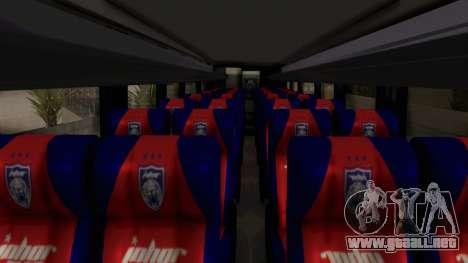 Marcopolo JDT Batu Bus para GTA San Andreas vista hacia atrás