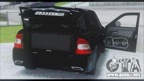 Lada Priora Sedan para visión interna GTA San Andreas