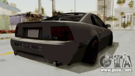 Ford Mustang 1999 Drift para GTA San Andreas left