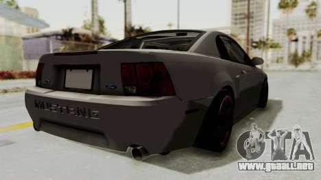 Ford Mustang 1999 Drift para GTA San Andreas left