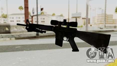 M16 Sniper para GTA San Andreas segunda pantalla