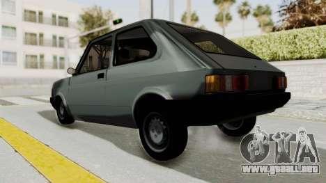 Fiat 147 Vivace para GTA San Andreas vista posterior izquierda