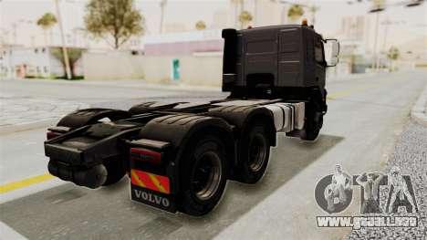 Volvo FMX Euro 5 6x4 para GTA San Andreas vista posterior izquierda