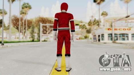Power Rangers Turbo - Red para GTA San Andreas tercera pantalla