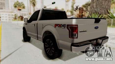 Ford Lobo XLT 2015 Single Cab para GTA San Andreas left