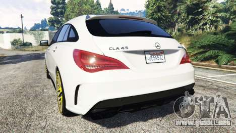 GTA 5 Mercedes-Benz CLA 45 AMG [HSR Wheels] vista lateral izquierda trasera